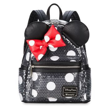 Disney Minnie Mouse Sequined Mini Backpack by Loungefly New with Tags