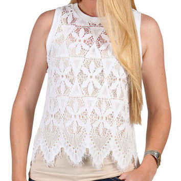 Shyanne Women's Allover Lace Tank Top