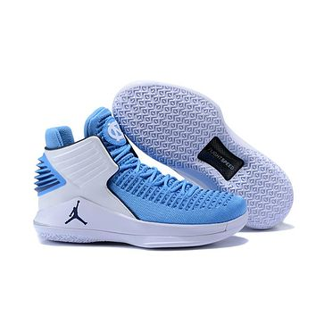 "Air Jordan 32 XXXII ""North Carolina"" Basketball Shoes US 7--12"