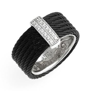 Women's ALOR Diamond Cigar Band Ring