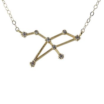 Leo Constellation CZ Outline Necklace