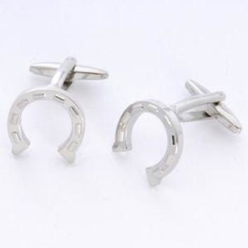 Dashing Cuff Links with Personalized Case - Horse Shoe