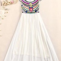 Pure color chiffon dress from Fanewant