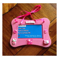Hello Kitty Pink Picture Frame 3X5 inches