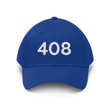 California 408 Area Code Embroidered Twill Hat