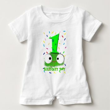 cute funny baby monster first birthday baby romper