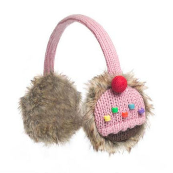 Strawberry Cupcake Ear Muffs