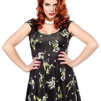 SOURPUSS MONSTER MOSH SKATER DRESS