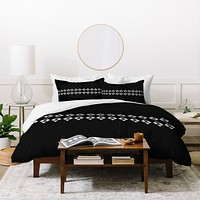 Viviana Gonzalez Black and white collection 03 Duvet Cover