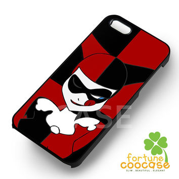 Harley Quinn Black And Red Phone Case -swn for iPhone 6S case, iPhone 5s case, iPhone 6 case, iPhone 4S, Samsung S6 Edge