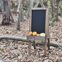 """Rustic Double-Sided A-Frame Chalkboard with Flower Box 36x14"""""""