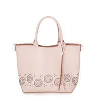 Cut-Out Pattern Tote Handbag