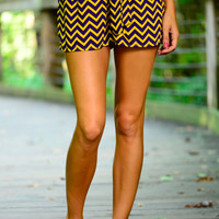 Chevron Shorts, Purple/Gold
