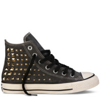 Charcoal Grey Chuck Taylor Studded Collar Shoes : Studded Converse | Converse.com
