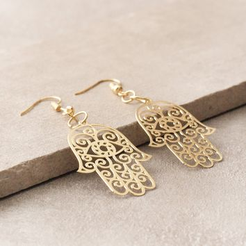 Sacred Hamsa Earrings