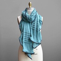 Substance | Pleated and Trimmed Scarf