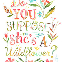 She's a Wildflower   -   vertical print