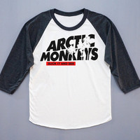 Arctic Monkeys T-Shirt Indie Rock Tee Shirt Baseball Tee Shirt Long Sleeve T-Shirt Women T-Shirt Unisex T-Shirt Size L