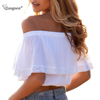 Off-Shoulder Crop Tops
