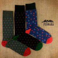 Dot and Triangle Fashion Dress Socks