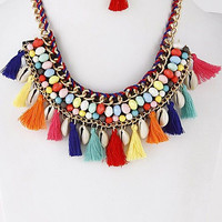 Good Vibes Colorful Statement Necklace