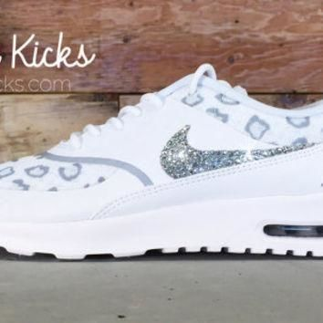 Tagre™ Blinged Out Nike Air Max Thea Running Shoes - Blinged Out With Swarovski Elements Crys