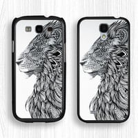 Samsung case,the lion king GALAXY Note3 case,lion GALAXY Note2 case,geometry lion Galaxy S4 case,lion king Galaxy S3 case,Galaxy S5 case
