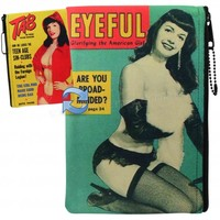 Bettie Page Magazine Makeup Pouch