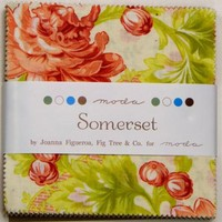 "30% OFF! 100% Cotton 5"" Charm Packs Somerset by Joanna Figuerro Fig Tree & Co for Moda"