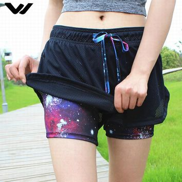 Women Breathable Mesh Gym Yoga Shorts Training Sportwear Jogging Cycling Fitness Workout Short Athletic Workout Clothes