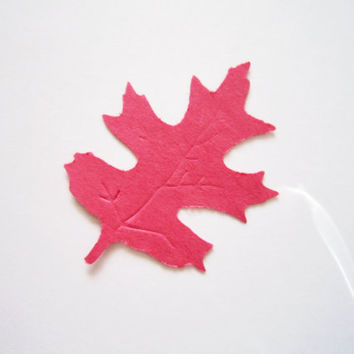 """2"""" Paper Leaves / Die Cut Confetti / Party Confetti / Fall Decorations / Scrapbooking / Leaf Die Cuts Your Choice of Colors / Set of 25"""