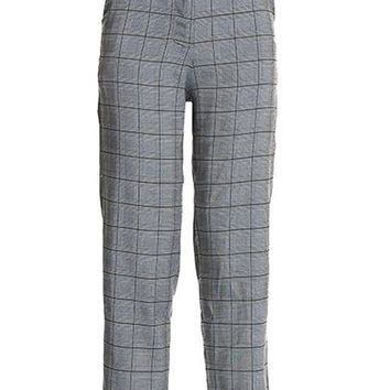 Plaid High Waist Trouser Pants