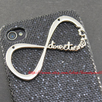 iphone 5 case cover, INFINITY ONE DIRECTIONER -  Infinity One Direction Black Shining case for iphone 5 hard case