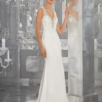 Blu by Morilee 5564 Myka Beaded Tank Chiffon Wedding Dress