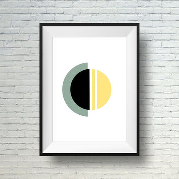 Modern Print Art, Geometric Art, Minimalist Wall Art, Modern Abstract Print