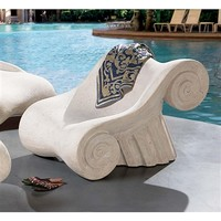 SheilaShrubs.com; Hadrian's Villa Roman Spa Furniture Collection - Master's Chair NE90025 by Design Toscano: Patio Chairs & Sofas