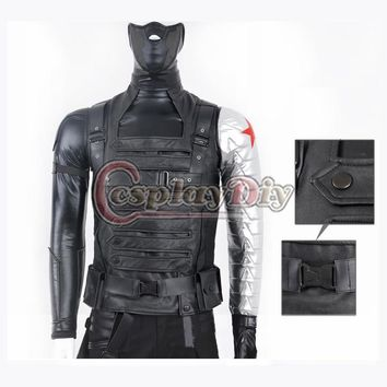Cosplaydiy Custom Made Movie Captain America The Winter Soldier James Buchanan Barnes Bucky Outfit Adult Cosplay Costume