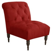 Eloise Tufted Slipper Chair, Red, Accent & Occasional Chairs
