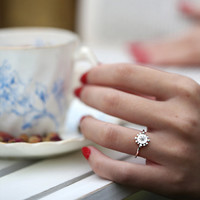 Silver Bobble and Twinkle Ring