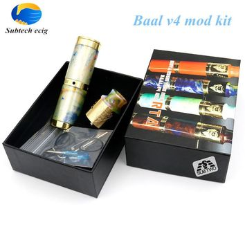 Sub two 2 pcs/lot 1:1 clone Mechanical mod electronic cigarette Baal v4 mod kit fit 18650 battery 510 thread  mod vape mods