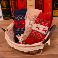Wool Winter Christmas Socks [9259021572]