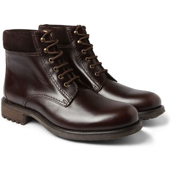 A.P.C. Rangers Leather and Suede Boots | MR PORTER