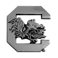 South Carolina Gamecocks NCAA Chrome Car Emblem (2.3in x 3.7in)