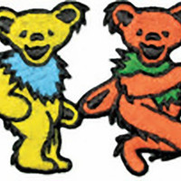 Grateful Dead Iron-On Patch Dancing Bears Strip