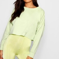Raw Hem Oversized Boxy Sweat | Boohoo