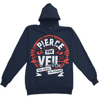 Pierce The Veil Men's  San Diego Hooded Sweatshirt Blue