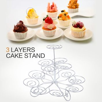 2016 New Detachable 3 Tier 13 Cupcake Stand Party Decoration  Dessert Holder Wedding Decorating Tools Kitchen Accessories