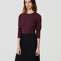 Petite Pleated Skirt Dress | LOFT