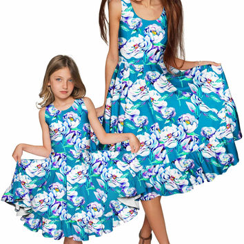 Gentle You Vizcaya Fit & Flare Midi Mommy and Me Dress