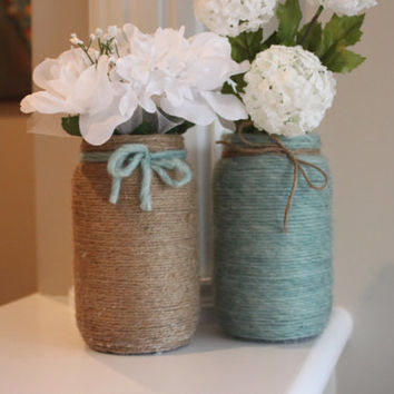 Teal Centerpieces, Rustic Centerpieces, ,Teal Vases, Rustic Vases, Teal Wedding Centerpieces, Rustic Wedding Centerpieces, Teacher's gifts